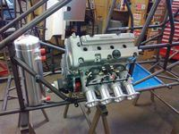 Mock Engine Sitting In The Chassis