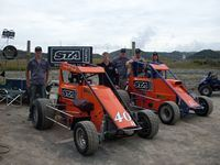 First Test Session at the Huntly Valvoline Midget Champs